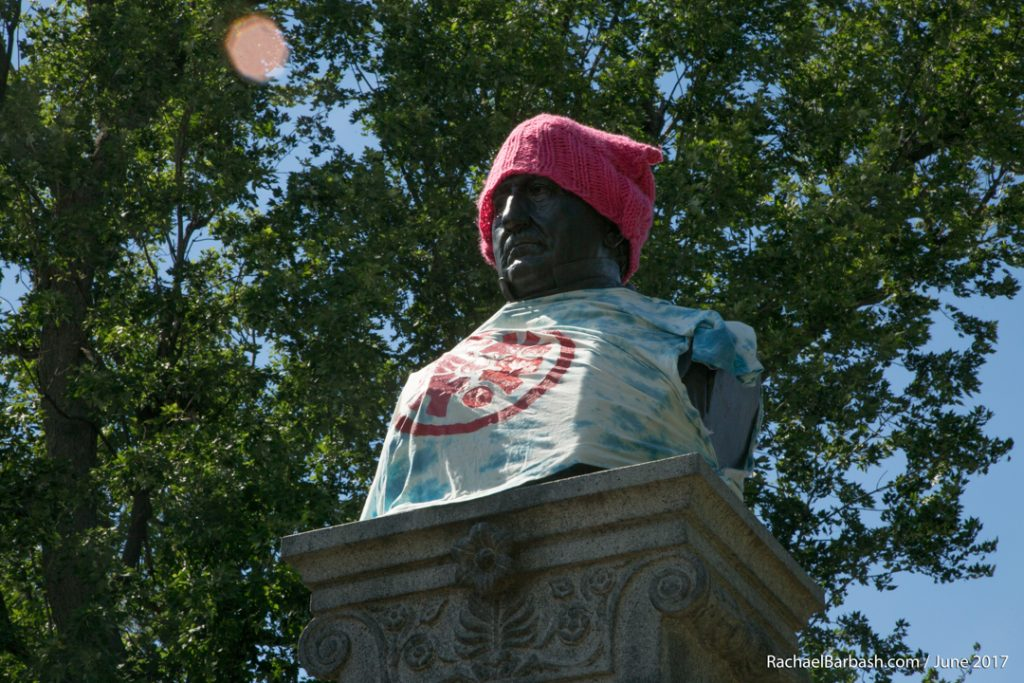 Lincoln Goodale Monument at ComFest 2017 by Rachael Barbash