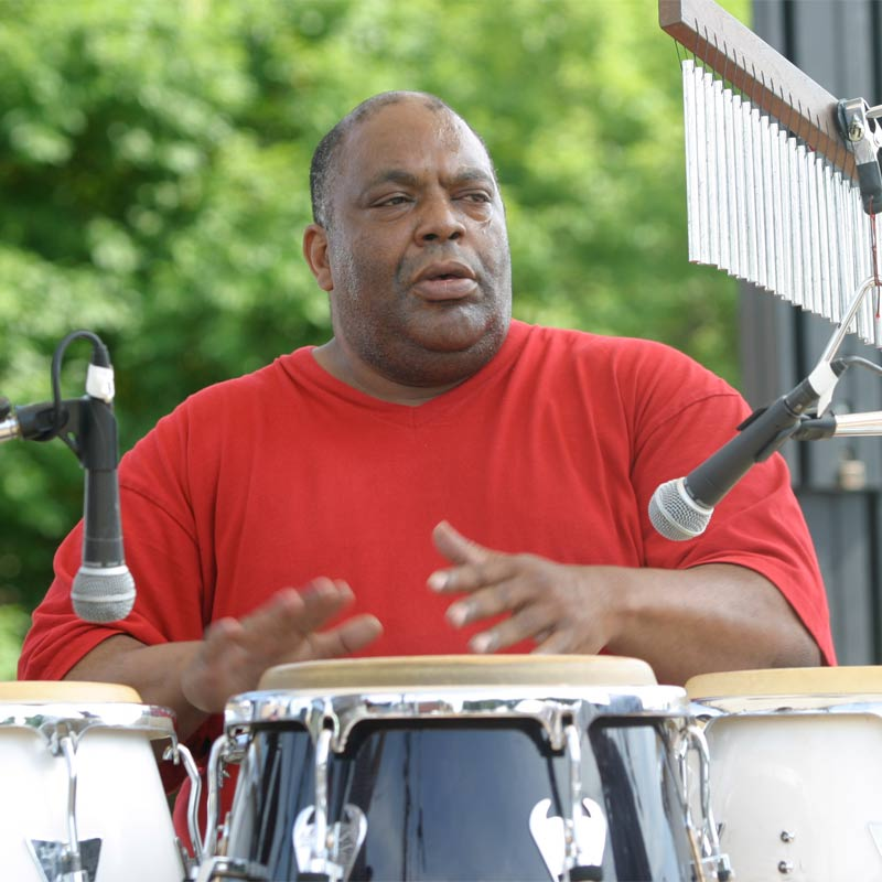 Ron Hope playing drums